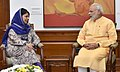 The Chief Minister of Jammu and Kashmir, Ms. Mehbooba Mufti calling on the Prime Minister, Shri Narendra Modi, in New Delhi on October 05, 2016.jpg
