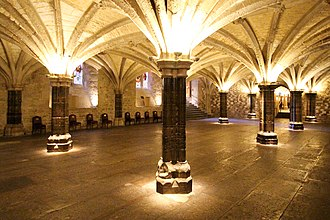 Guildhall, London - The crypt of Guildhall