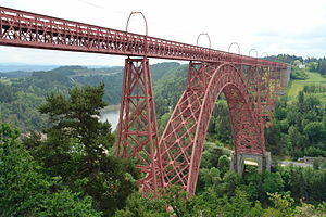 Garabit viaduct - Image: The Garabit Viaduct, 2007, Cantal, Auvergne, France 1