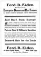 The Illustrated Milliner, Volume 7, Issue 7, advertisement - Ferd. R. Eiden.png