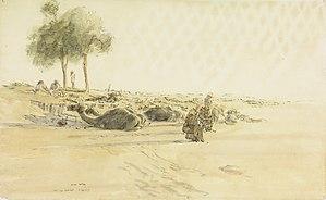 James McBey - The Long Patrol- the Wadi (11 July 1917) (Art.IWM ART 1439)
