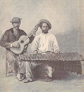 "Marimba - ""The Marimba"" from ""The Capitals of Spanish America"" (1888)"
