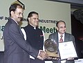 The Minister of State for Mines, Dr. T Subbarami Reddy presenting the Federation of Indian Mineral Industries (FIMI) Social Awareness and Excellence Awards 2005-06.in New Delhi on July 22, 2006.jpg