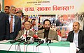 The Minister of State for Minority Affairs (Independent Charge) and Parliamentary Affairs, Shri Mukhtar Abbas Naqvi addressing at the inauguration of the Hunar Haat, in New Delhi.jpg