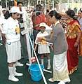 "The Minister of State of Rural Development, Ms. Agatha Sangma at the ""Hand Washing day"" function, in New Delhi on October 27, 2009.jpg"