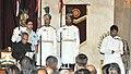The President, Shri Pranab Mukherjee administering the oath as Cabinet Minister to Dr. Kavuru Sambasiva Rao, at a Swearing-in Ceremony, at Rashtrapati Bhavan, in New Delhi on June 17, 2013.jpg