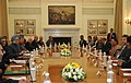 The Prime Minister, Dr. Manmohan Singh and the Prime Minister of the Republic of Trinidad and Tobago, Mrs. Kamla Persad-Bissessar, at the delegation level talks, in New Delhi on January 06, 2012.jpg