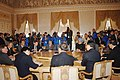 The Prime Minister, Dr. Manmohan Singh at a tripartite meeting with the presidents of Russia and China, Mr. Vladimir Putin and Mr. Hu Jintao, at G-8 summit in St. Petersburg, Russia on July 17, 2006.jpg