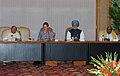 The Prime Minister, Dr. Manmohan Singh is at the UPA-Left Coordination Committee meeting, in New Delhi on June 14, 2007.jpg