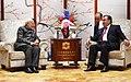 The Prime Minister, Shri Narendra Modi meeting the President of the Republic of Tajikistan, Mr. Emomali Rahmon, on the sidelines of the Shanghai Cooperation Organisation (SCO) Summit, in Qingdao, China on June 09, 2018 (1).JPG