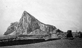 Lines of Contravallation of Gibraltar - Image: The Rock from the Ruins of the Spanish Fort Sta Bárbara 1879