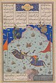 The Sixth Joust of the RooksBizhan Versus Ruyyin, Painting attributed to 'Abd al-Vahhab- Painting (H. 21.7 x W. 17.1 cm).jpg