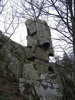 The Laidly Worm of Spindleston Heugh - The Spindlestone or Bridle Rock on Spindlestone Heughs.