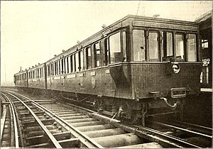 Liverpool Overhead Railway electric units - Photo of LOR rolling stock c.1884, from The Street Railway Journal (1902).