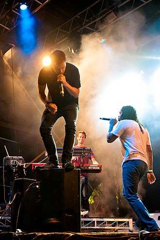 The Streets - Mike Skinner and Kevin Mark Trail performing live in Sydney, 2011