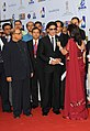 The Super Cinestar Shahrukh Khan at the inaugural ceremony of 42nd International Film Festival of India (IFFI-2011), at Ravindra Bhavan, in Madgaon, Goa on November, 23, 2011. The Chief Minister of Goa.jpg