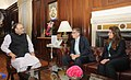 The Union Minister for Finance, Corporate Affairs and Defence, Shri Arun Jaitley meeting Mr. Bill Gates and Ms. Melinda Gates, in New Delhi on September 18, 2014 (1).jpg