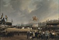 The Unveiling of the Equestrian Statue of Carl XIV Johan of Sw. in 1854 (Carl Stefan Bennet) - Nationalmuseum - 21790.tif