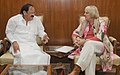 The Vice President of the German Parliament, Ms. Claudia Roth meeting the Union Minister for Urban Development, Housing and Urban Poverty Alleviation and Parliamentary Affairs, Shri M. Venkaiah Naidu, in New Delhi.jpg