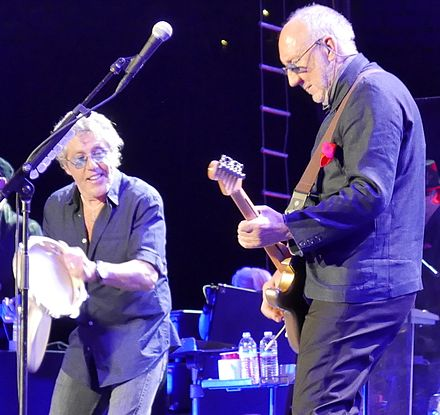 Daltrey and Townshend on the Who Hits 50! tour in 2016 The Who, Oakland, CA, May 2016.jpg