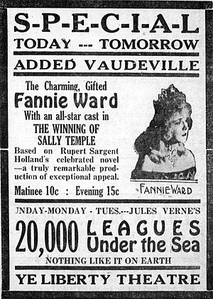 The Winning of Sally Temple - Newspaper advertisement