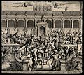 The bustling courtyard of the temple of Solomon. Etching by Wellcome V0034332.jpg