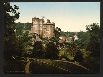 Château de Clisson - The castle ruins (seen here in the 1890s) were a source of inspiration for Romantic artists