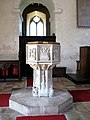 The church of SS Margaret and Remigius - C15 baptismal font - geograph.org.uk - 1454797.jpg