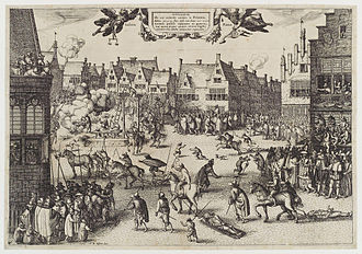 Robert and Thomas Wintour - Print of members of the Gunpowder Plot being hanged, drawn, and quartered