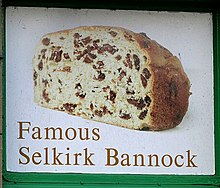 Pandoloce genovese inglese chiamato Selkirk Bannock