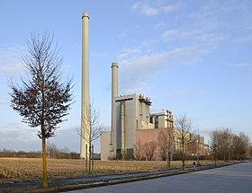 Die Grasfläche links neben den konventionellen Blöcken war für die Reaktoren vorgesehen.