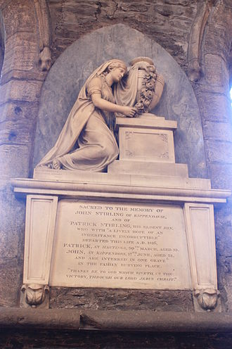 Peter Turnerelli - The grave of John Stirling by Peter Turnerelli, Dunblane Cathedral, Scotland