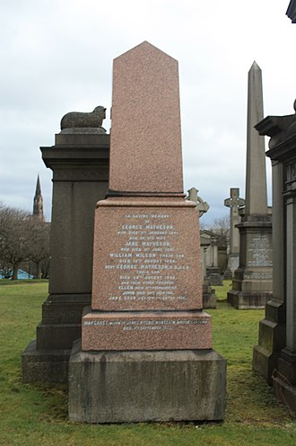 George Matheson - The grave of Rev George Matheson, Glasgow Necropolis