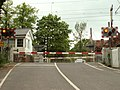 The level crossing, viewed from Hall Lane - geograph.org.uk - 1300650.jpg