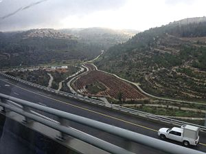 Jerusalem District - The route from Jerusalem to Ashdod.