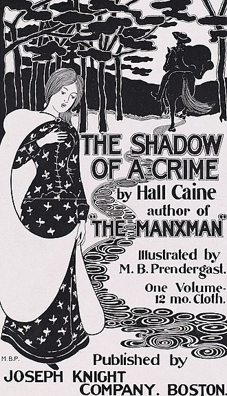Hall Caine - 1895 Poster advertising The Shadow of a Crime.