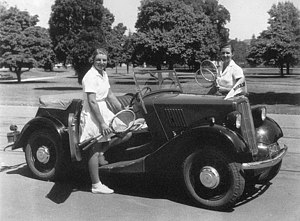 Thelma Coyne Long - Thelma Coyne (l) and Nancye Wynne Bolton (r) in Adelaide (1938)