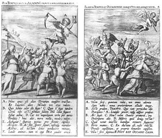 Opportunism - Opportunity Seized, Opportunity Missed, engraving by Theodoor Galle, 1605