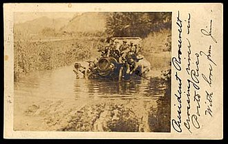Adjuntas, Puerto Rico - Postcard of President Theodore Roosevelt during his visit to Adjuntas