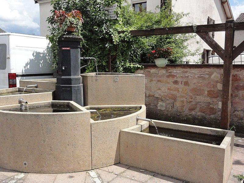 Thiaville-sur-Meurthe (M-et-M) fontaine