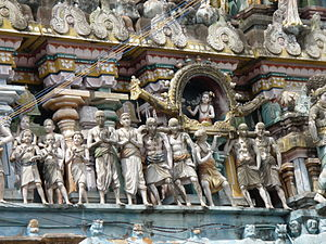 Sambandar - A temple relief depicting Appar bearing Sambandar's palanquin