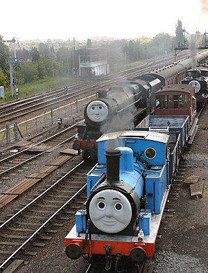 Kidderminster Town railway station - Image: Thomas, Henry, Duck and troublesome trucks at Kidderminster