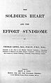 Thomas Lewis, The soldier's heart and the effort syndrome Wellcome L0002426.jpg