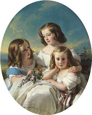 Hermann Winterhalter - Image: Three demoiselles de la famille de Chateaubourg