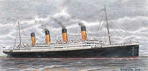 Maritime history of the United Kingdom - RMS Titanic, days before sinking.