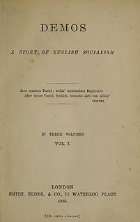 <i>Demos</i> (novel) novel by George Gissing