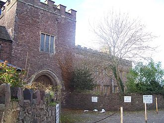 Tiverton Castle - External view of the gatehouse, Tiverton Castle