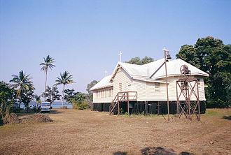 Tiwi Islands - Nguiu Catholic church in 2005