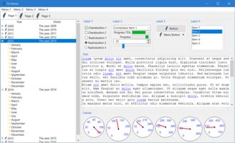 Tk (software) - Image: Tk Demo using Tk 8.6.6 on Windows 10, November 2016