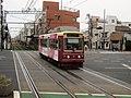 Toden 7707 at Shin-Koshinzuka Station.jpg